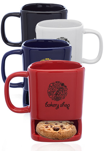 Customized 7 oz. Poppy Cookie Holder Mugs