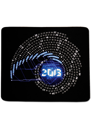 Wholesale Orbit Rectangular Calendar Mouse Pads
