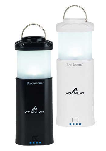7800 mAh Brookstone Power Bank Lantern with Flashlights | GL70292