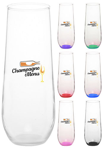 Custom 8 oz. Libbey Stemless Champagne Glasses