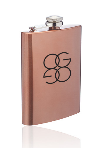 Wholesale 8 oz. Copper Coated Gran Torino Hip Flasks