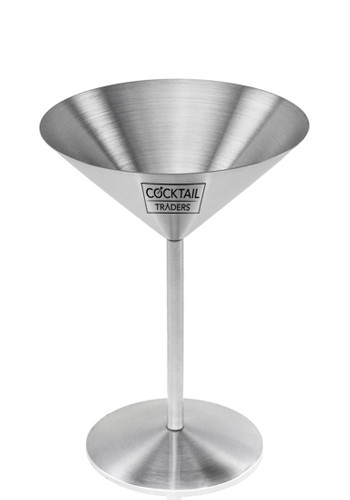 Custom 8 oz. Stainless Steel Martini Glasses