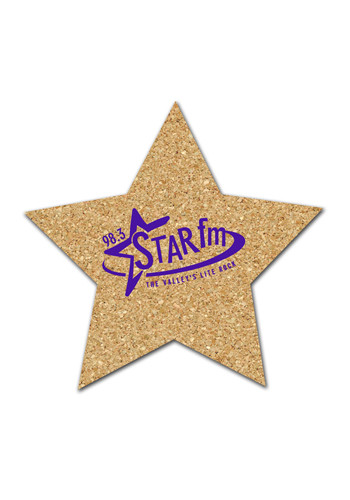 Customized 4.75 inch Cork Star Coasters