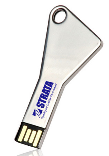 8GB Silver Key Flash Drives | USB0298GB