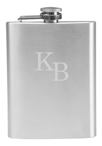 8 oz. Stainless Steel Flasks - No Minimum