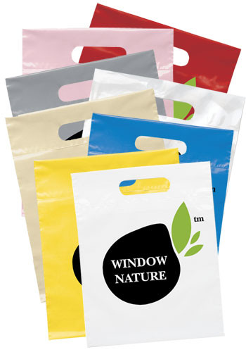 Personalized Die Cut Handle Plastic Bags