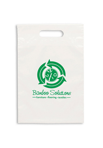 Promotional Eco Die Cut Handle Plastic Bags