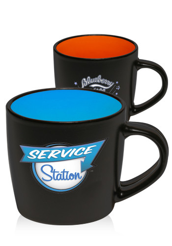 9 oz. Classic Two Tone Matte Ceramic Mugs | ST20
