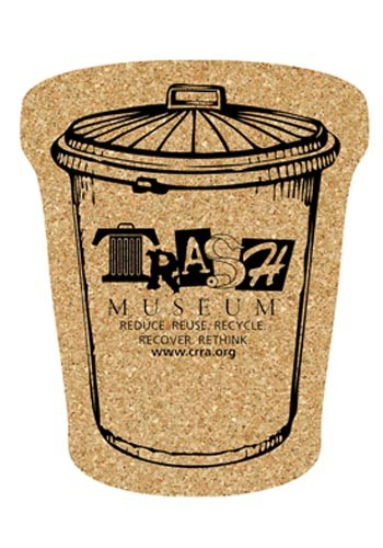 4.25 inch King Size Cork Trash Can Coasters | AM5XTC