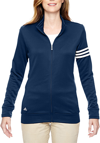 Adidas Golf Ladies Climalite 3 Stripes Full Zip Jackets | AOA191