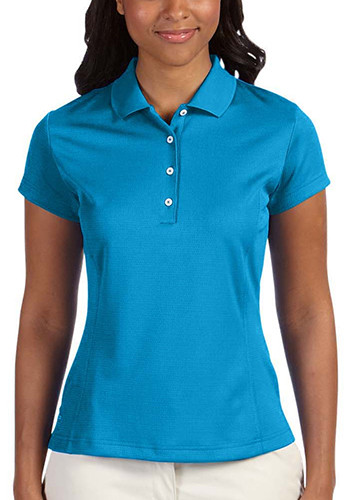 Adidas Golf Ladies Climalite Texture Solid Polos | AOA171