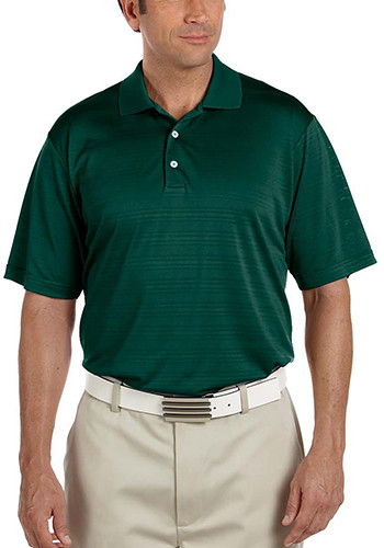 Adidas Golf Mens Climalite Textured Short-Sleeve Polo | AOA161