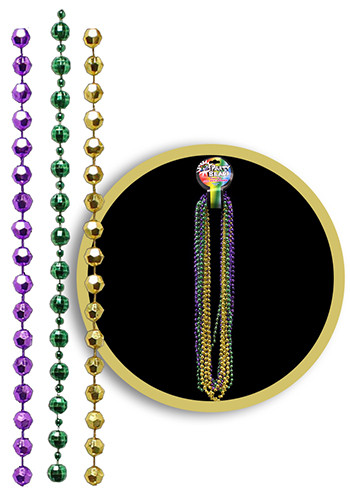 Custom Disco Ball Mardi Gras Bead Necklaces