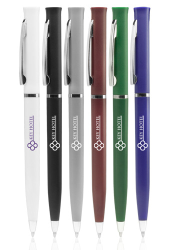 Customized Alston Twist Action Hotel Pens