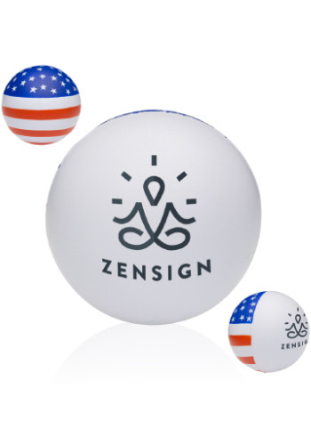 Customized American Flag Stress Balls