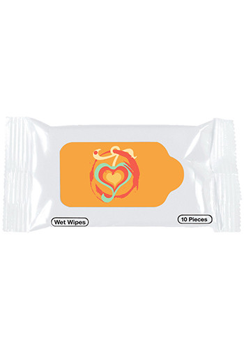 Antibacterial Wet Wipe Packets | X20355