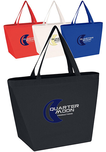 Custom Antimicrobial Non-Woven Shopper Tote Bags