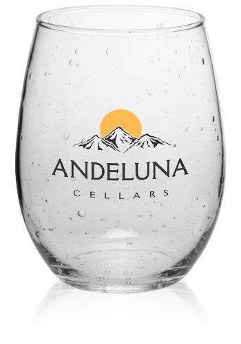 9 Oz Arc Bola Stemless Wine Glasses Ah7789