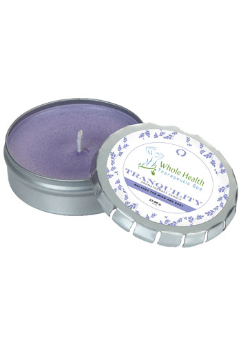 Customized Aromatherapy Candles in Large Silver Push Tin