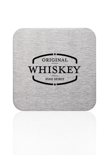 Promotional Carson Stainless Steel Square Coasters
