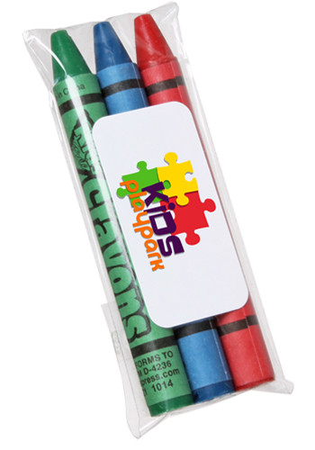 Personalized Assorted 3pk Non-Toxic Crayons