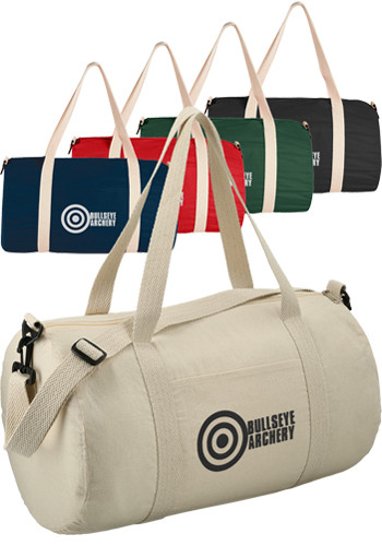 Barrel 18 Inches 5Oz Cotton Canvas Duffel Bags| SM7233