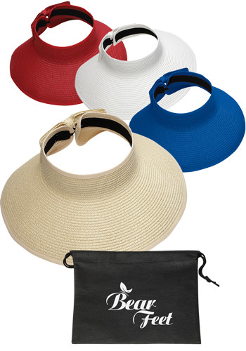 Roll-Up Sun Visors with Pouches