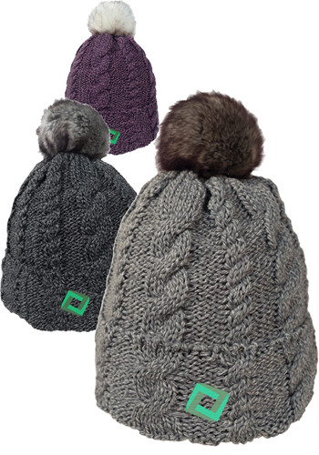 Beanies With Faux Fur Pom And Plush Lining 4bb792506c58