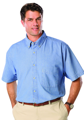 Blue Generation Men's Short Sleeve Premium Denim Shirts | BGEN8206S