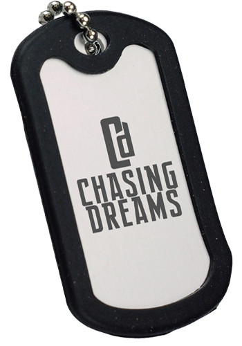 Black Trim Aluminum  Dog Tags | CPS0143