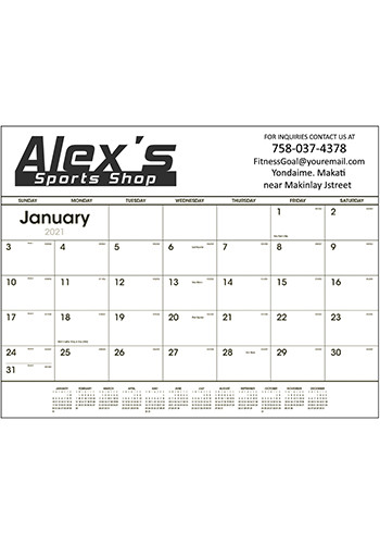 Black & White Desk Pad Calendars | X11390