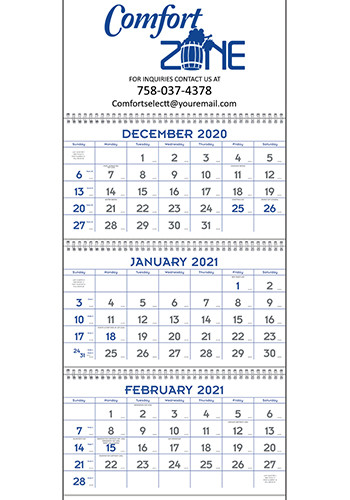 Blue and Grey Commercial Planner Triumph Calendars | X11415