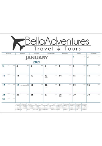 Blue & Black Desk Pad Calendars | X11388