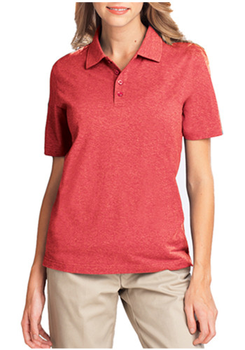 Blue Generation Ladies Heather Polo Shirts | BGEN6229