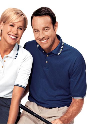 Blue Generation Mens Tipped Collar & Cuff Polo Shirts | BGEN7205