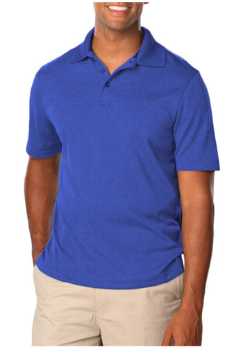 Blue Generation Men's Heather Polo Shirts | BGEN7229