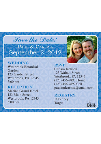 Blue Themed Save the Date Magnets | MGS217JJ