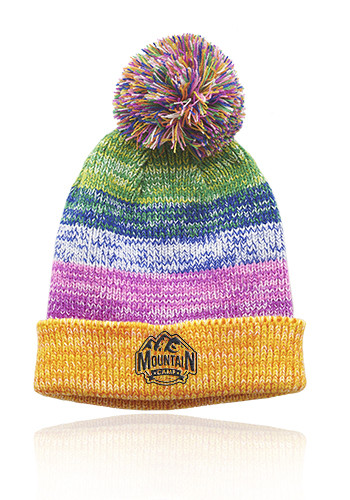 Personalized Bodga Multi-Color Knitted Pom Pom Beanies