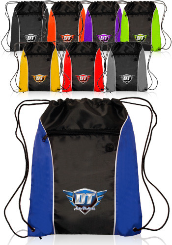 Side Color Drawstring Backpacks