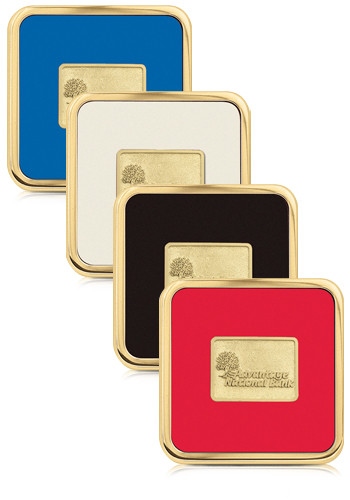 Promotional Brass Square Coasters