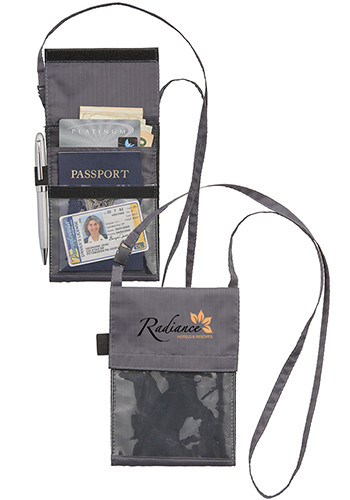 Promotional BRIGHTtravels RFID Passport Wallets with Lanyard