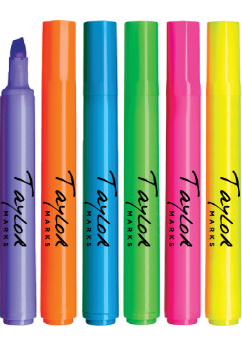 Brite Spots Broad Tip Highlighters - Solid Barrel - USA Made | LQ6000