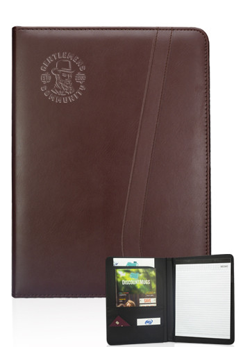 Brown Leatherette Portfolios | PF11