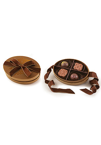 Bud F-Piece Belgian Chocolate Truffles in Oval Gift Boxes | X10359