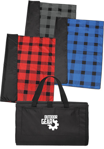 Customized Buffalo Plaid Fleece Picnic Blankets