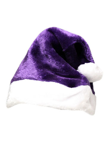 Purple Plush Santa Hats | WCHAT112