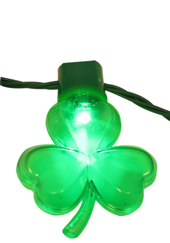 Customized Shamrock LED Plastic Necklaces
