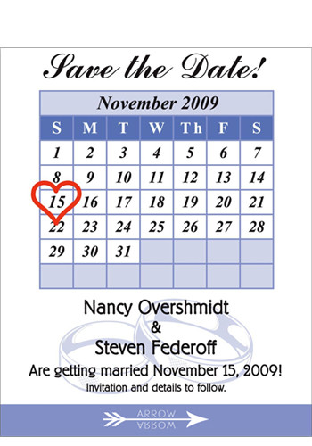 Calendar Save the Date Magnets | MGS217P