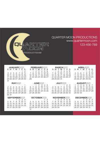 Calendar Sq Crnr 3.91inch x 3.41inch Magnets | MBMC01