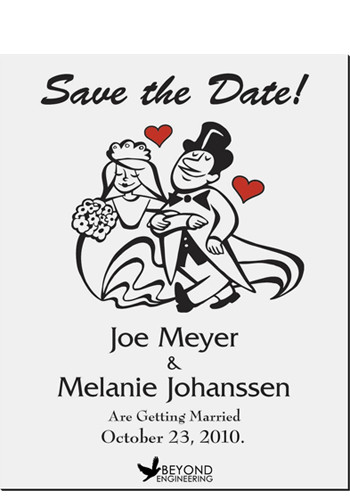 Cartoon Couples Save the Date Magnets | MGS2170F